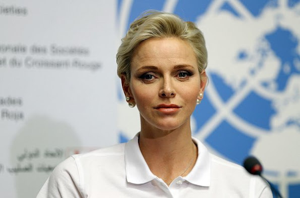 "Princess Charlene of Monaco attended the launch of ""World First Aid Day 2016"" held at the United Nations Geneva Office"