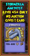 Stormzilla - Wizard101 Card-Giving Jewel Guide