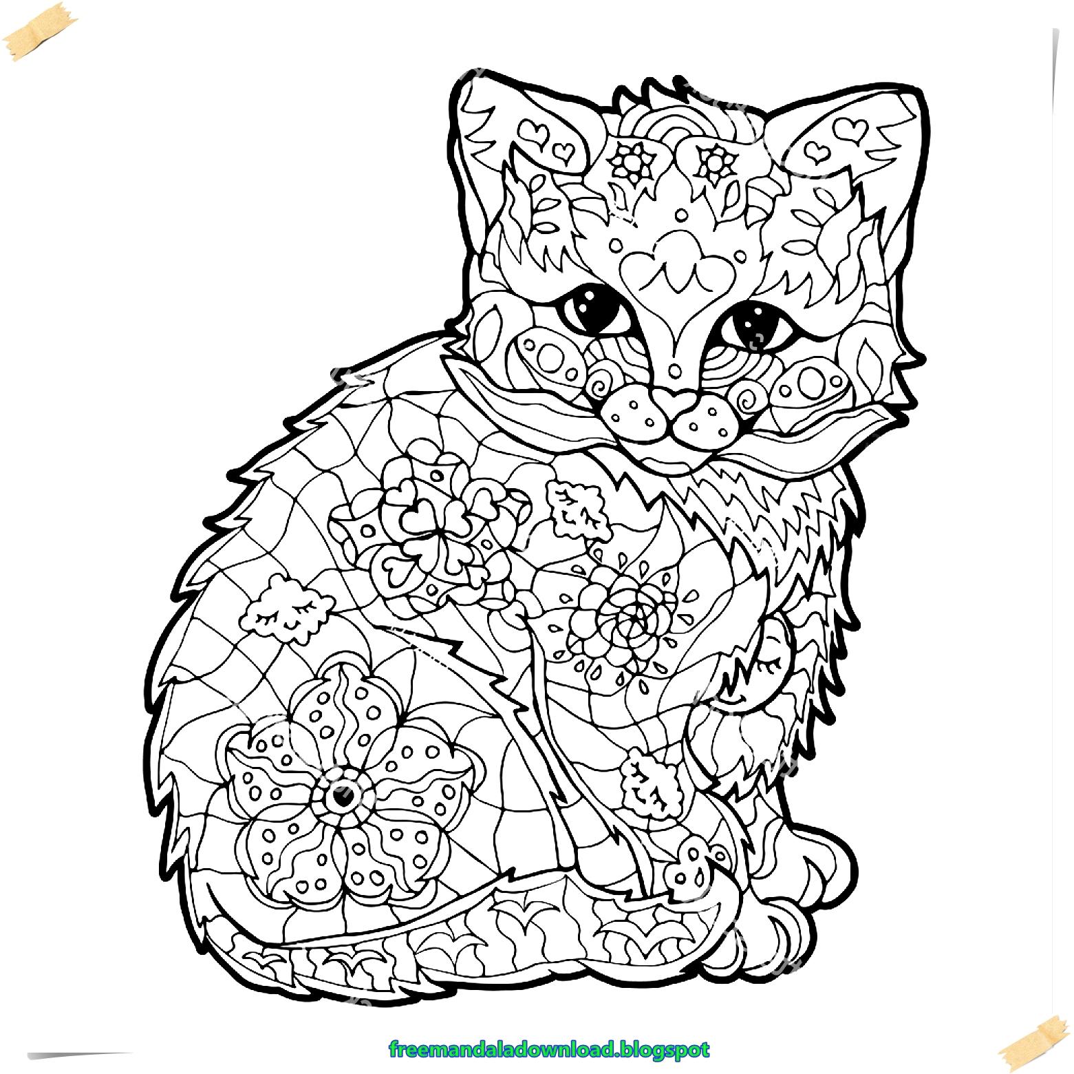 Katzen Ausmalbilder Mandala : Erfreut Katzen Mandalas Zum Ausdrucken Bilder Malvorlagen Von