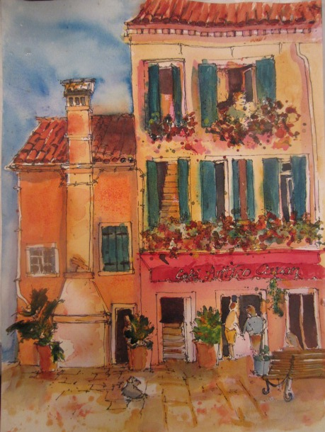 All Things Quilty And Artsy Watercolor Painting Cafe In