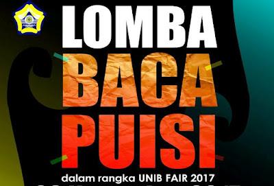 Ikuti Lomba Membaca Puisi Untuk Siswa dan Mahasiswa di UNIB Fair Bengkulu