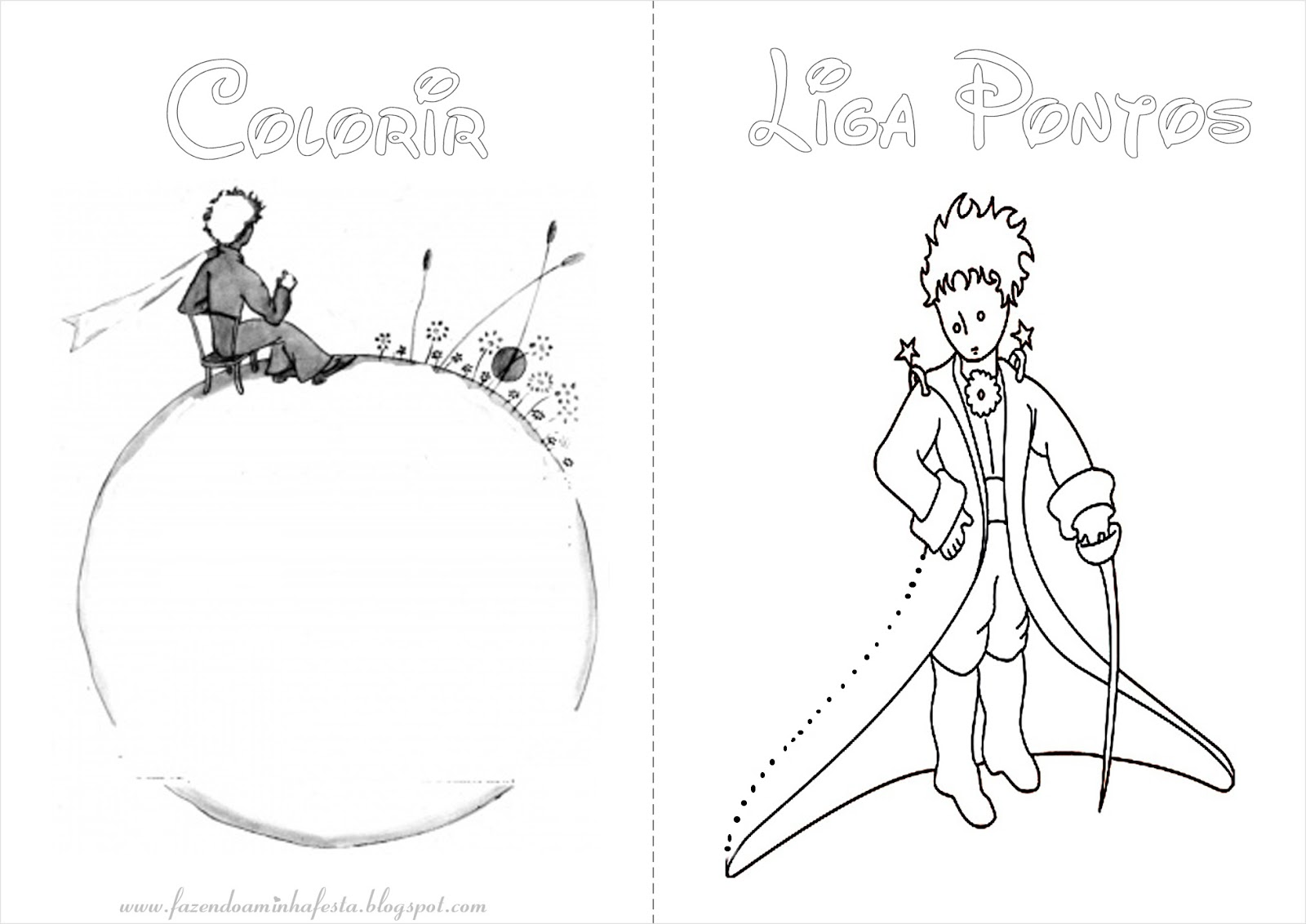 Desenhos Para Colorir Principe: FAZENDO A FESTA DAS CRIANÇAS- *Flor E As Crianças