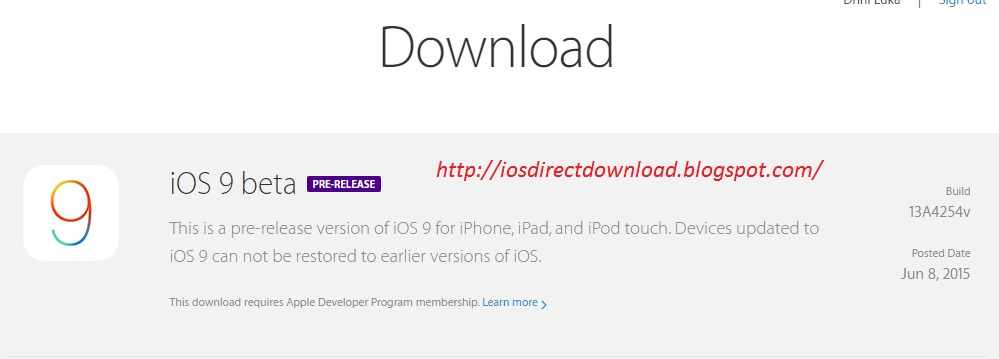 iOS 9 Free Download Link (Beta) - iOS Direct Link Download