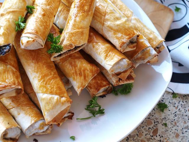 Quinoataschen mit Feta und Champignons