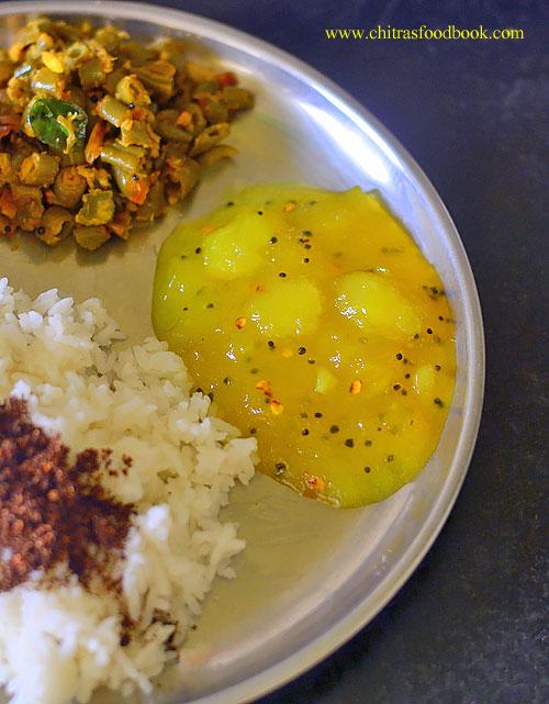 Mango pachadi recipe with sugar