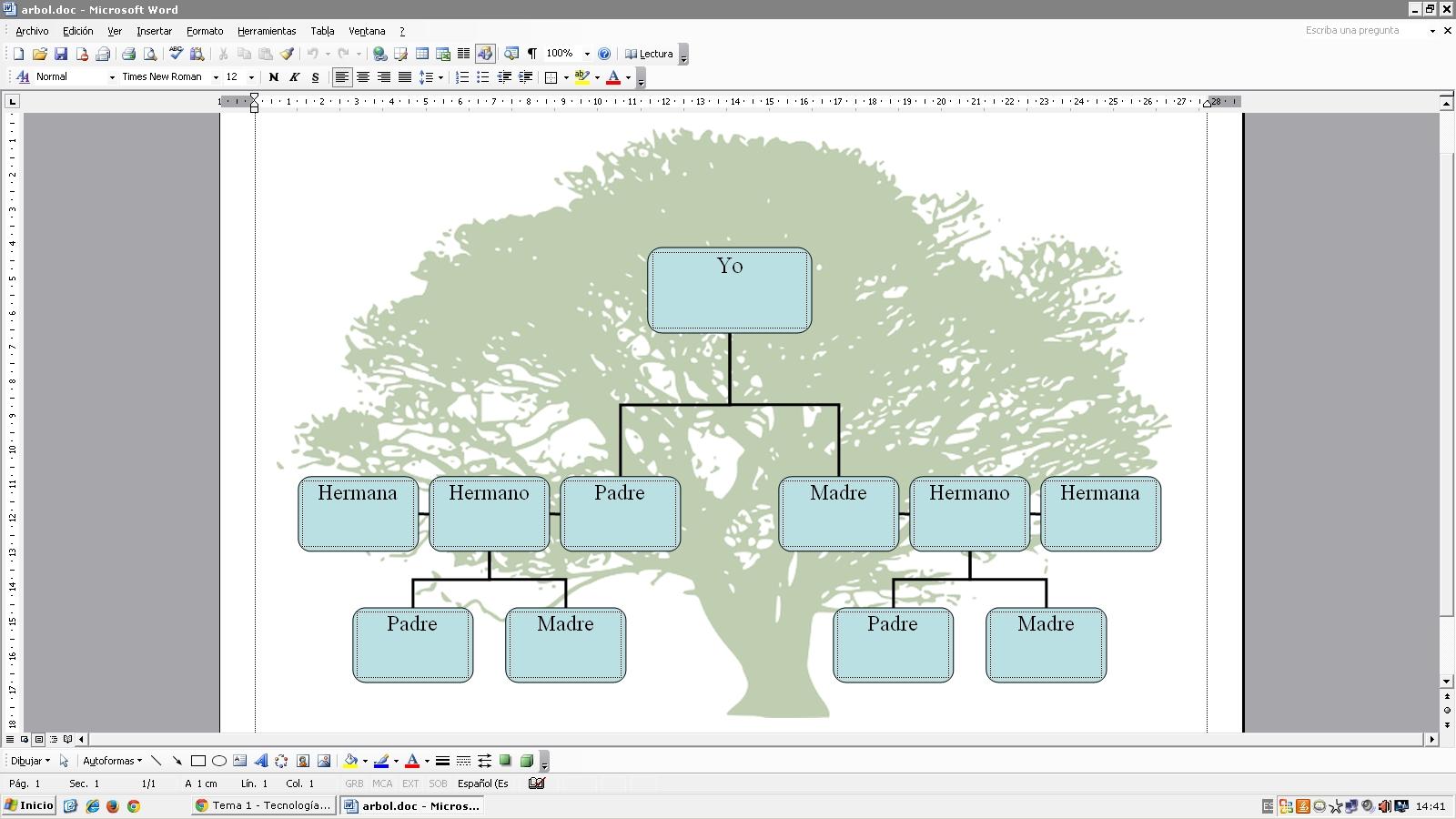 Trabajos TIC 1º Bachiller Iyan: Árbol Genealógico