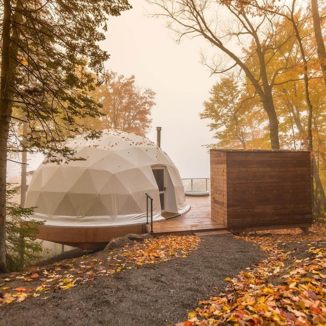 07-Entrance-to-the-Dome-Domes-Charlevoix-Eco-Friendly-Geodesic-Dome-Tourist-Accommodation-www-designstack-co