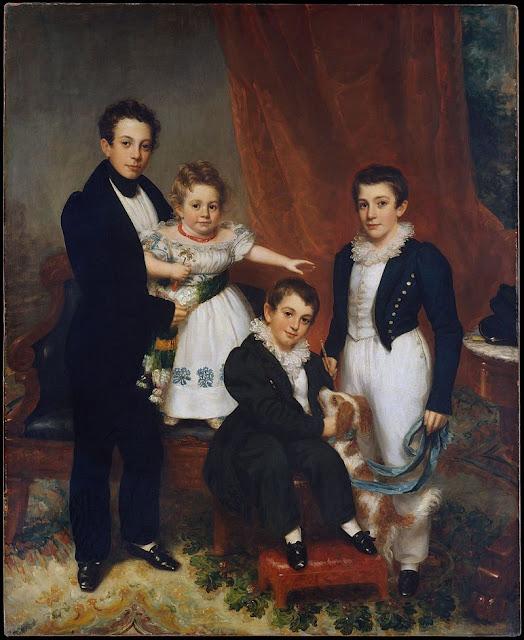 Knapp, family, family portrait, children, 1830s, pre-Victorian