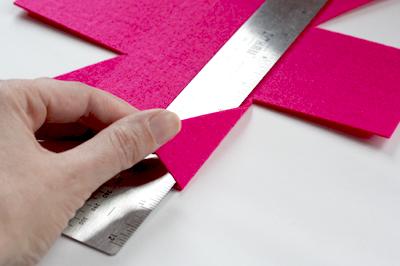 fold tabs - Caixinha de feltro
