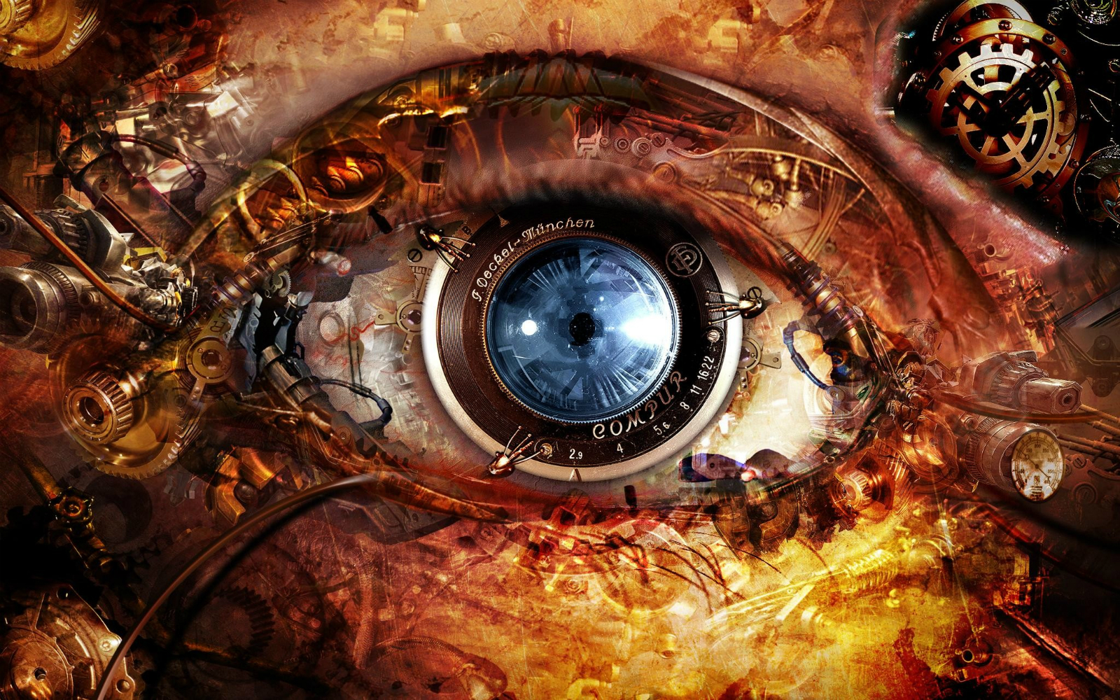 steampunk wallpaper eye -#main