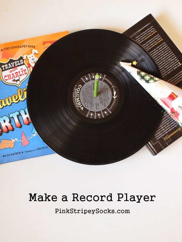 how to build a DIY record player from household materials