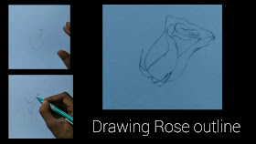 How to draw rose petals outline ,how to draw Rose with pencil, step by step tutorial of Rose drawing ,how to draw Rose step by step, beginners drawing of Rose, drawing for beginners ,graphite pencil drawing