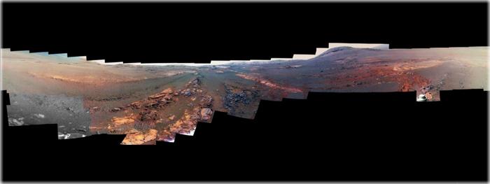 sonda opportunity - ultima foto panoramica em 360 graus