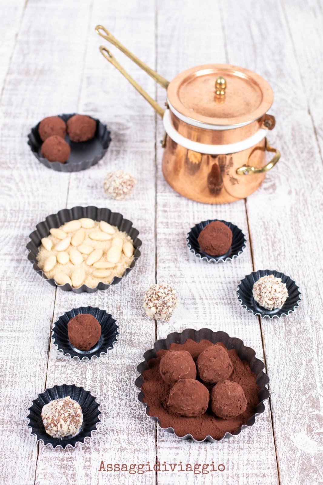 Tartufi di cioccolato con gli avanzi del panettone