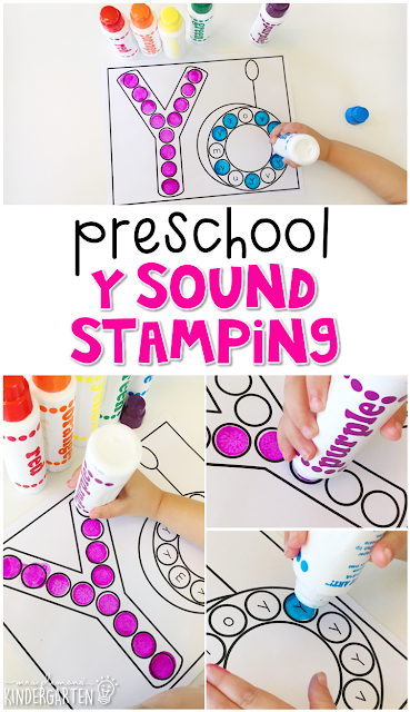 Yo yo sound stamping is fun for letter, sound, and fine motor practice with an all about me theme. Great for tot school, preschool, or even kindergarten!