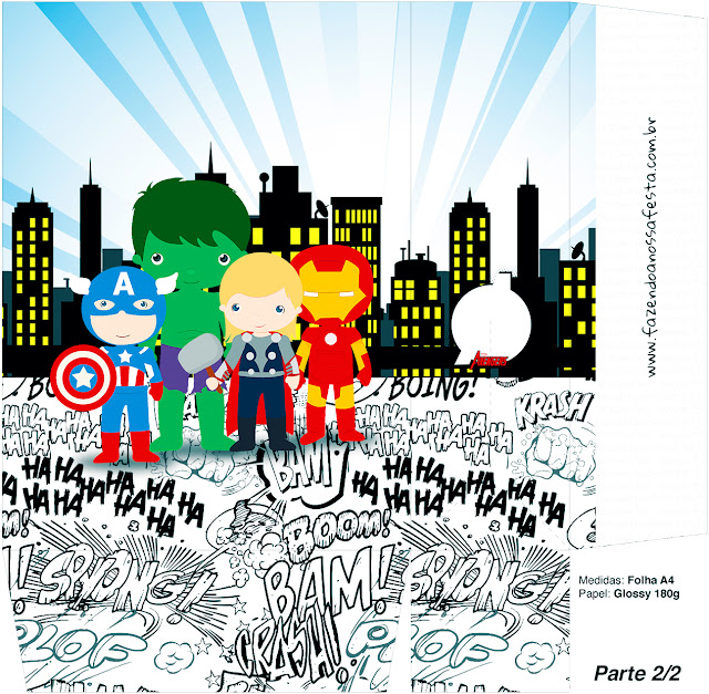 Avengers Chibi Style, Party Free Printable Box