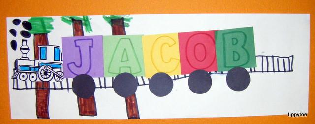 Tippytoe Crafts Name Trains