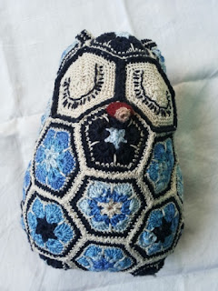 owl crochet african flower