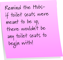 Toilet Seats Sticky Note Saturday