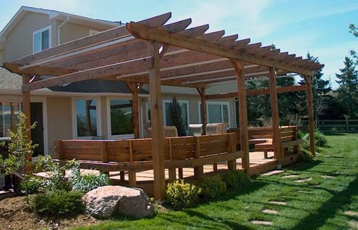 How to build covered patio roof ayanahouse for How to build a freestanding patio cover