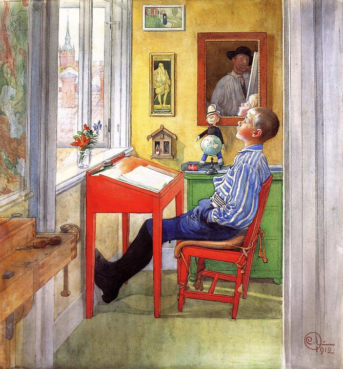 Carl Larsson 1853-1919 | Swedish Realist painter | The Arts and Crafts Movement