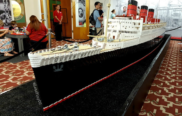 Queen Mary LEGO Model Ship, see the model of the Queen Mary made with LEGOS, fun family field trips in Southern California, LEGO + Queen Mary