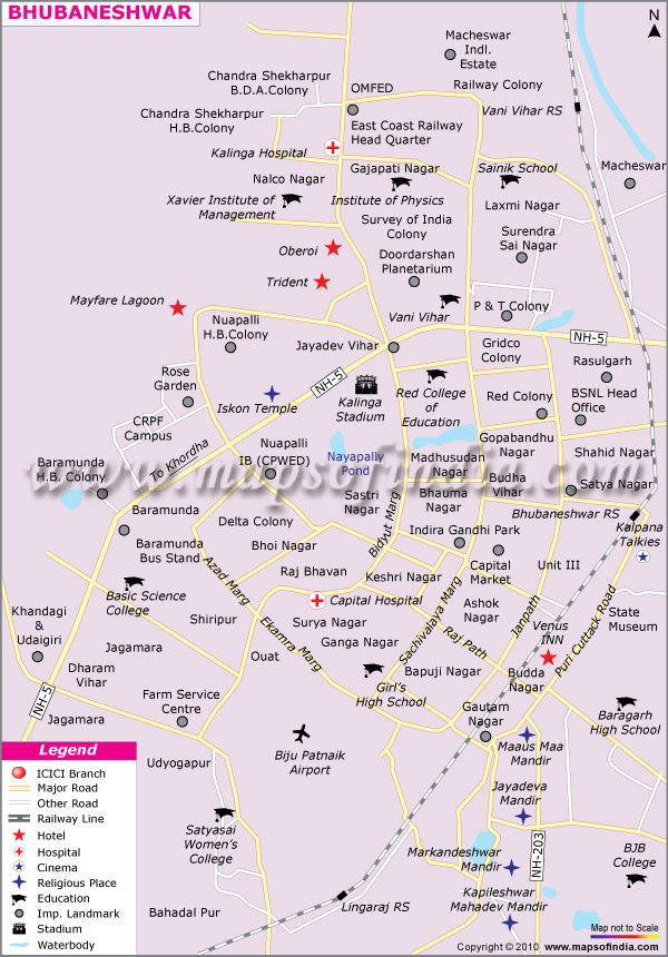 bhubaneswar india map images