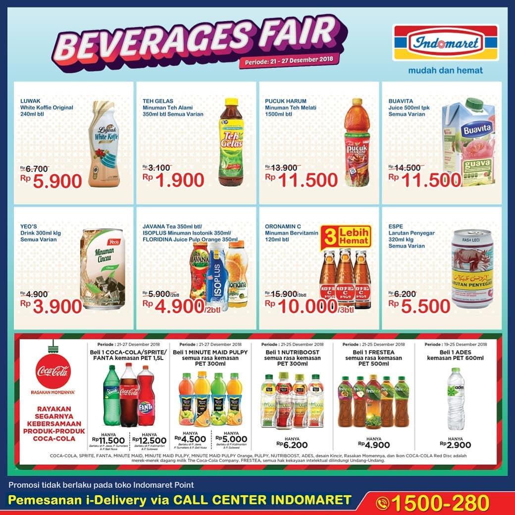 #Indomaret - Promo Beverage Fair Periode 21 - 27 Desember 2018