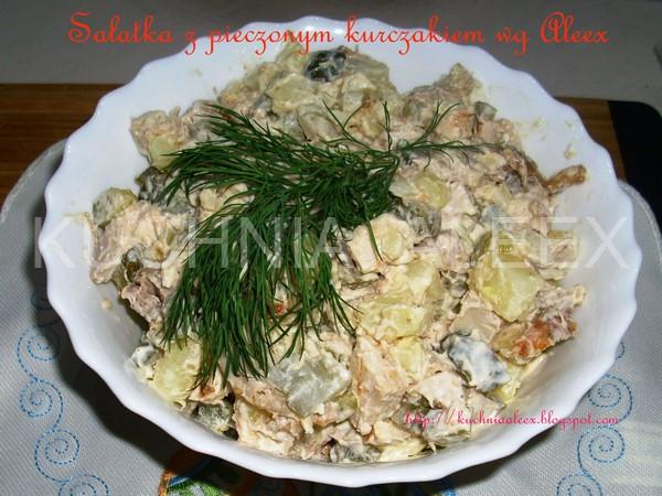 W Mojej Kuchni Sałatka Z Pieczonym Kurczakiem Wg Aleex