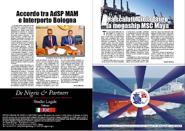 LUGLIO 2018 PAG 23 - Ha scalato Gioia Tauro la megaship MSC Maya