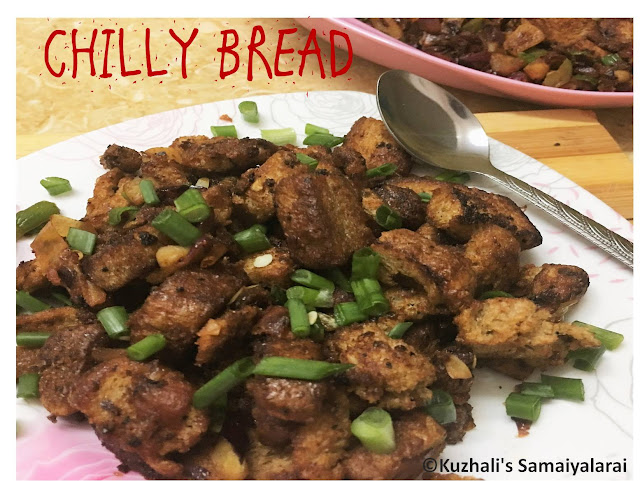 CHILLI BREAD RECIPE-BREAD STIR FRY - LEFTOVER BREAD RECIPE