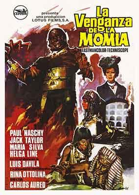 La Venganza de la Momia, otra colaboración de Carlos Aured con Paul Naschy