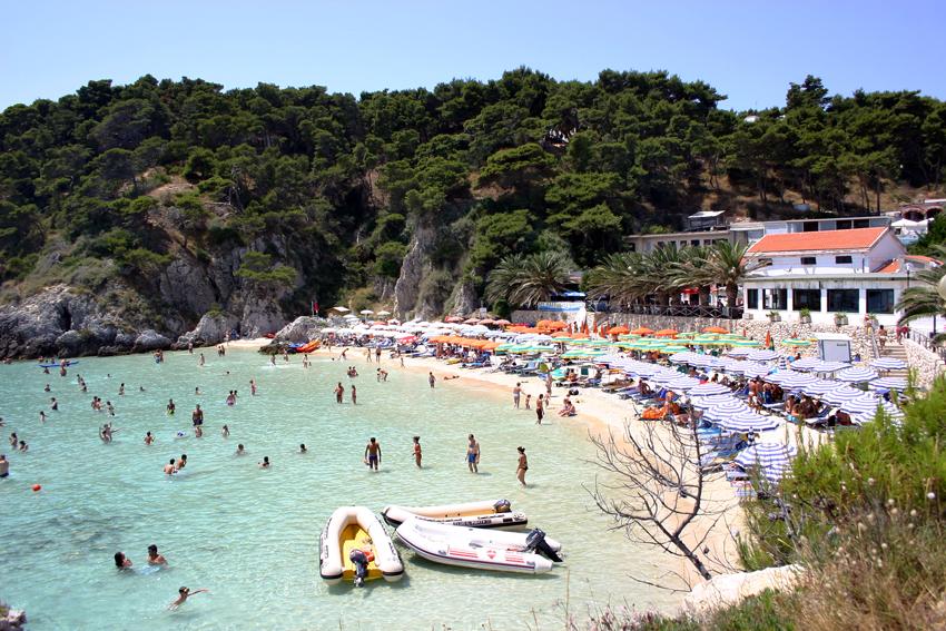 Plaża na wyspie San Domino
