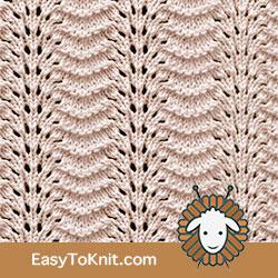 EasyToKnit - Old Shale Variation Eyelet Lace pattern #laceknitting