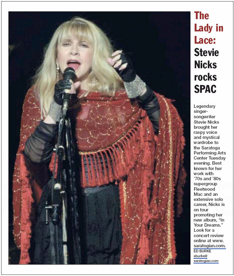 Fleetwood Mac News: Stevie Nicks Front Page of The