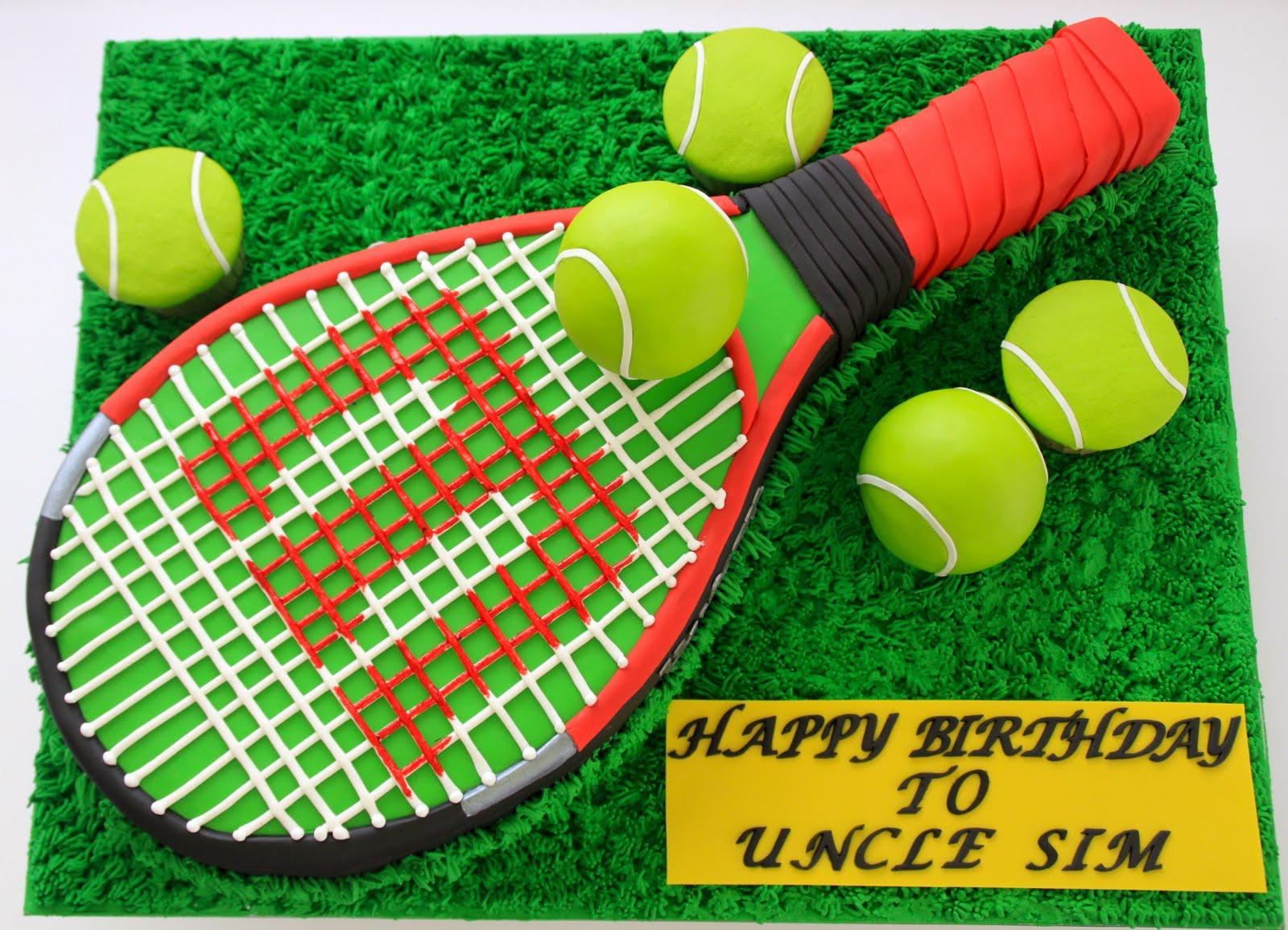 How To Make A Tennis Racket Cake