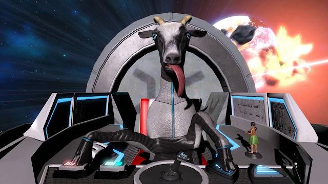 ¡Cabras en el espacio!, Mira la nueva expansión de Goat Simulator en PS4