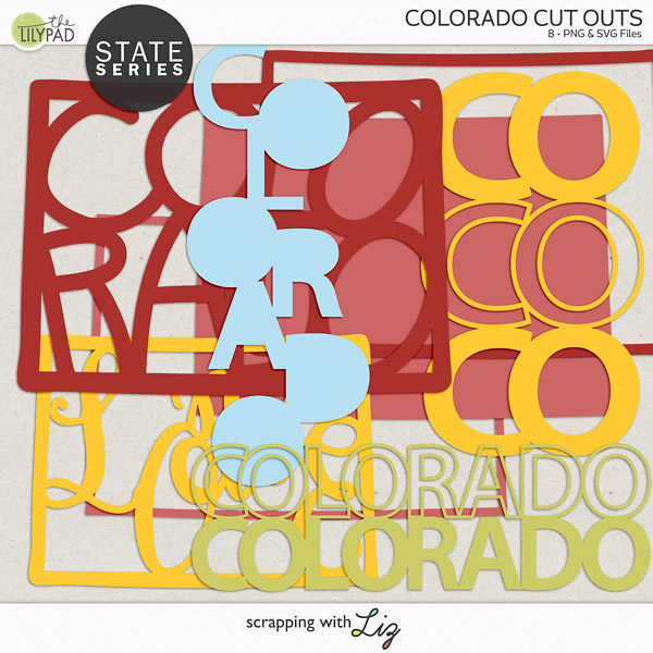 Colorado Cut outs for creative projects.