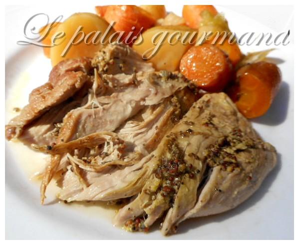 Le palais gourmand r ti d 39 paule de porc au four - Cuisiner epaule de porc ...