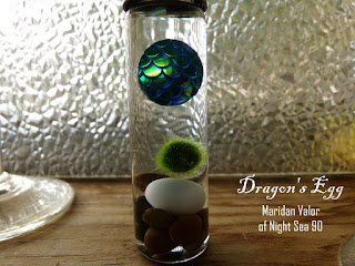 Dragon's Egg Marimo Vial; no photo editing done here, pure dragon magic. Yes, yes that is a real dragon's egg, isn't it amazing?