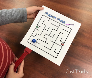 Magnet Pathways and Mazes, great for a Science Center, www.JustTeachy.com