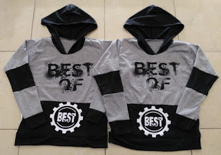 Jual Online Jumper Best Of Grey Couple Murah Jakarta Bahan Babytery Terbaru