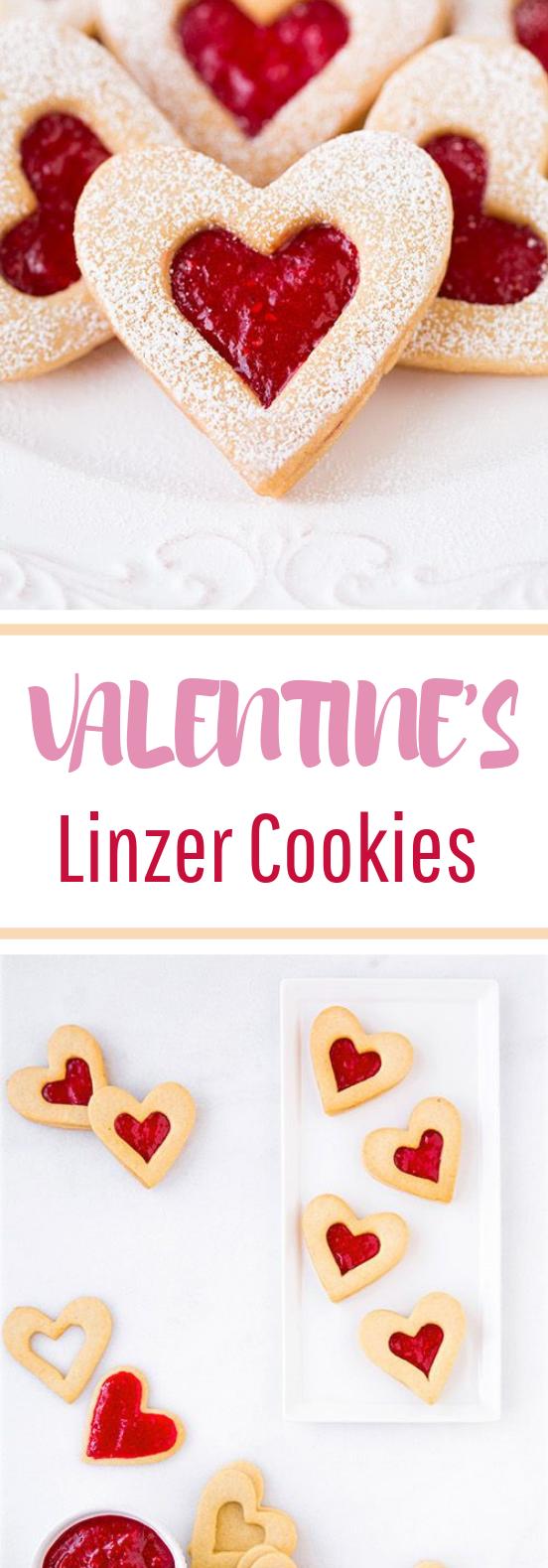 Heart Linzer Cookies #valentine's #desserts