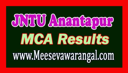 JNTU Anantapur MCA IV Semester Regular and Supplementary Examinations Results 2016