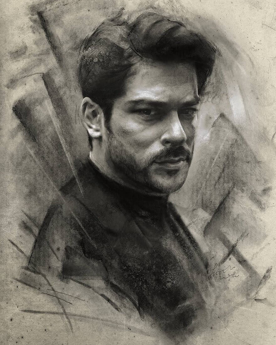 02-Burak-Özçivit-Charcoal-and-Graphite-Portrait-Drawings-www-designstack-co
