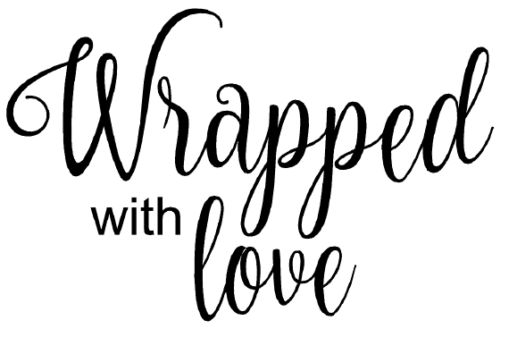 wrapped with love free card sentiment