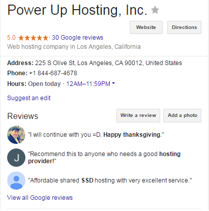 PowerUp Hosting, Review, rating of hosting