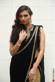 Priyanka Ramana in Beautiful Designer Black Saree At We Craft Elegance Expo Launch 009.JPG