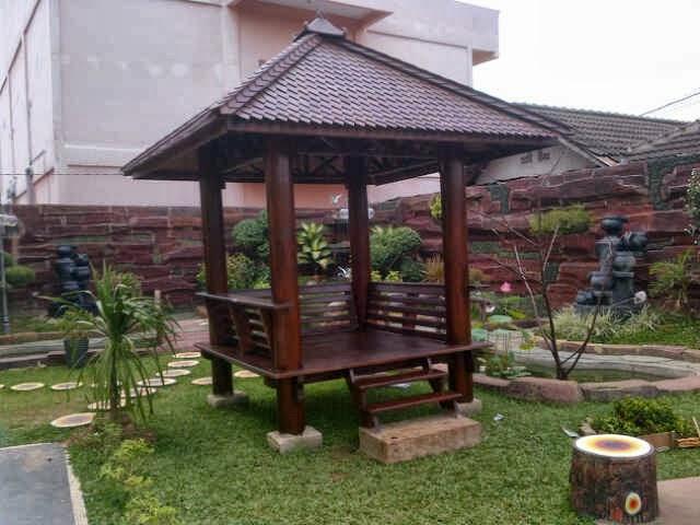 Contoh Model Gasebo Tukang Taman Rumah