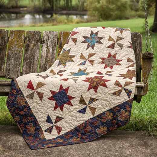 Stars & Pinwheels Quilt Free Tutorial